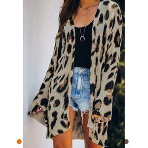 New Boutique Plus Size Leopard Cardigan